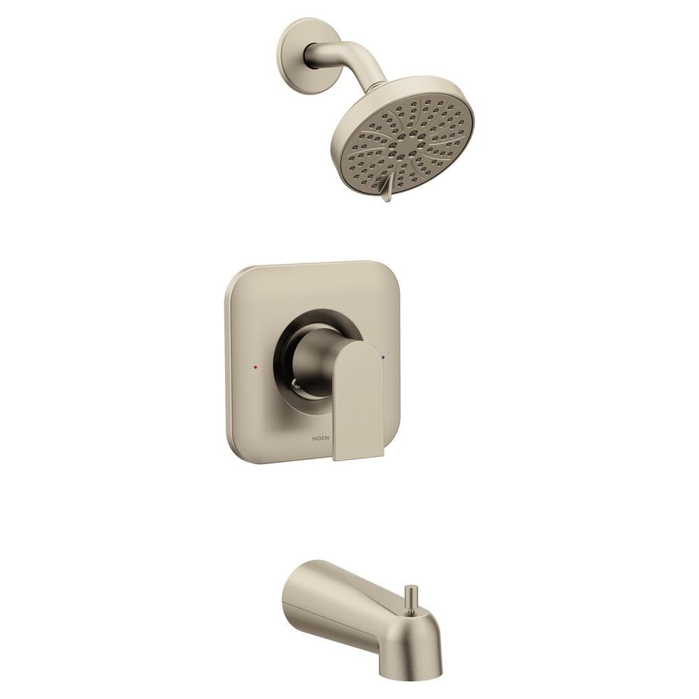 Moen Genta Single Handle 3 Spray Positemp Tub And Shower Faucet In
