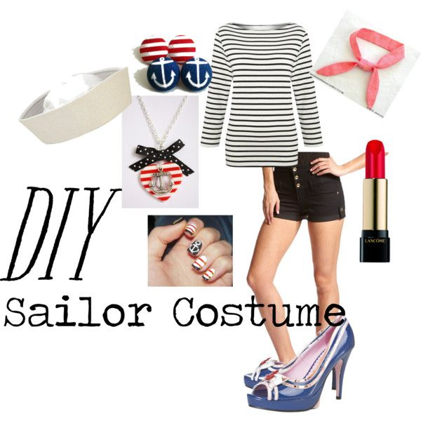 Diy sailor costume by lmgrisez on polyvore party ideas diy sailor costume by lmgrisez on polyvore solutioingenieria Image collections