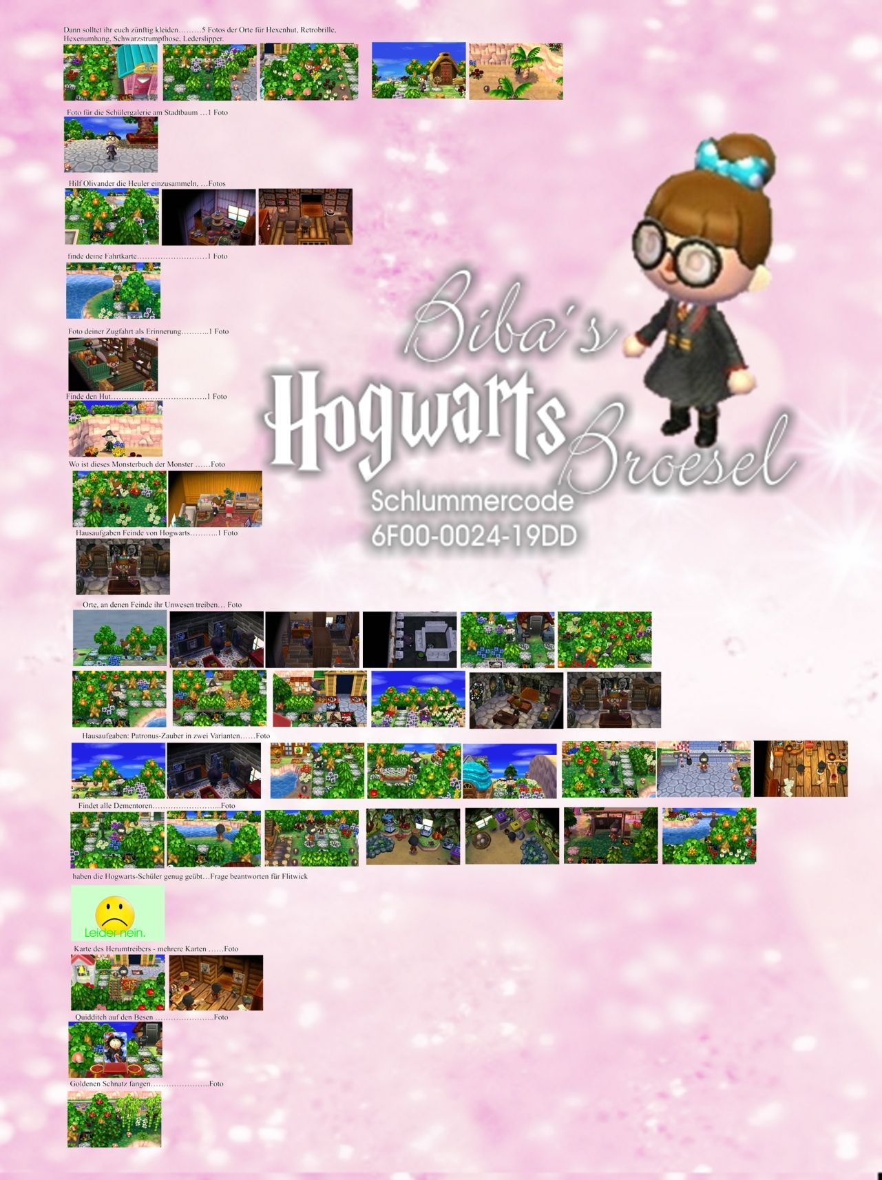 Losung Aufgaben Biba Broesel Spiel A Letter From Hogwarts Harry Potter Animal Crossing New Leaf Animal Crossing Animal Crossing Qr Best Gag Gifts