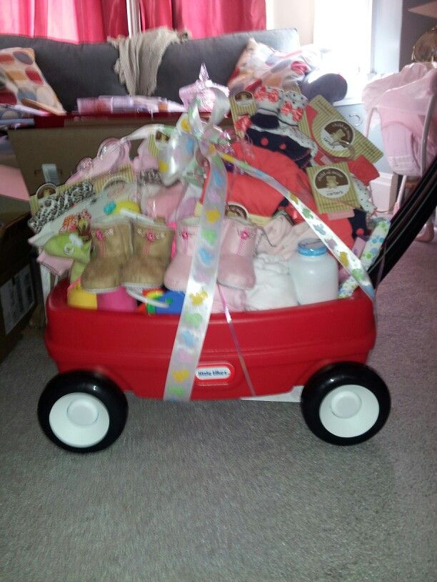 Welcome wagon I made for first grand daughter | Baby ...