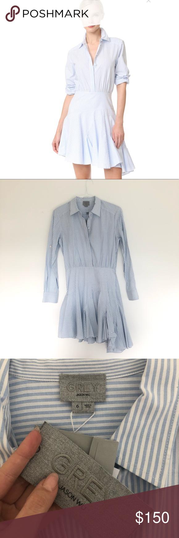 b10596e8fb3a JASON WU Grey Long Sleeve Asymmetrical Dress Brand new with tags Jason wu  Grey long sleeve