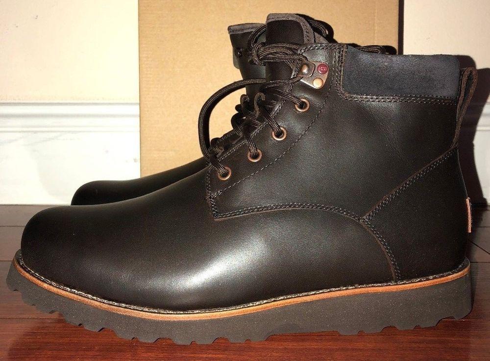 64d598c5108 Mens Ugg Australia Seton Stout Leather Waterproof Boots Size 11 ...