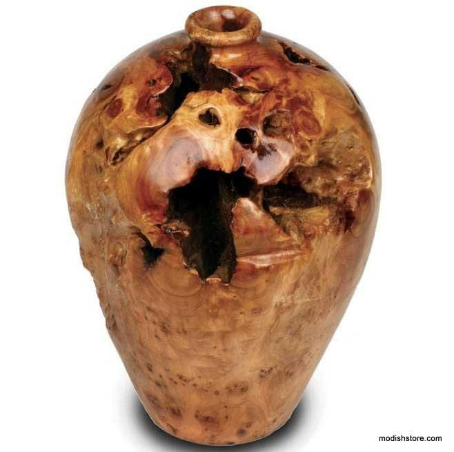 Decorative Urn Endearing Root Wood Large Urn  Urn And Products Decorating Design
