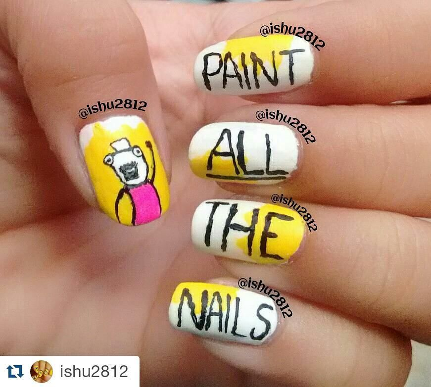 Repost Ishu2812 With Repostapp Paint All The Nails Ive Done
