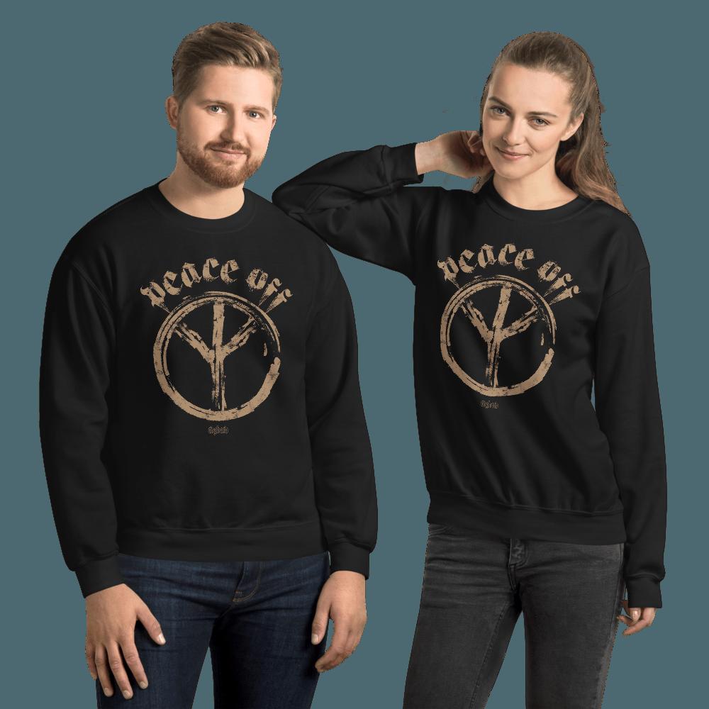 Peace Off | Unisex Sweatshirt - Black / 4XL