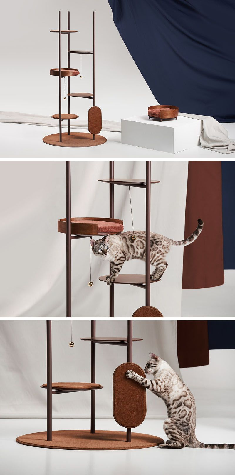 A Cat Tree Designed To Blend In With The Interiors Of