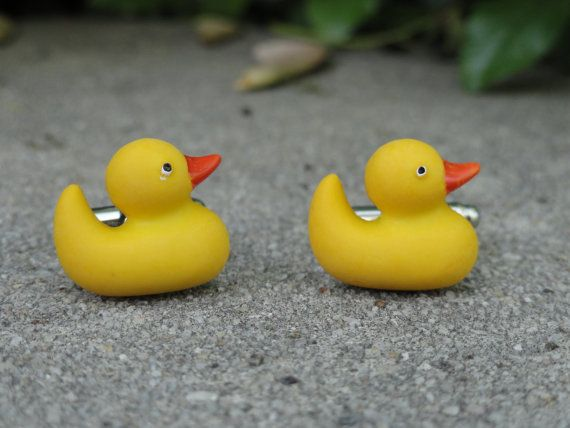 Rubber Ducky Cufflinks Etsy In 2020 Rubber Ducky Duck Gifts Ducky