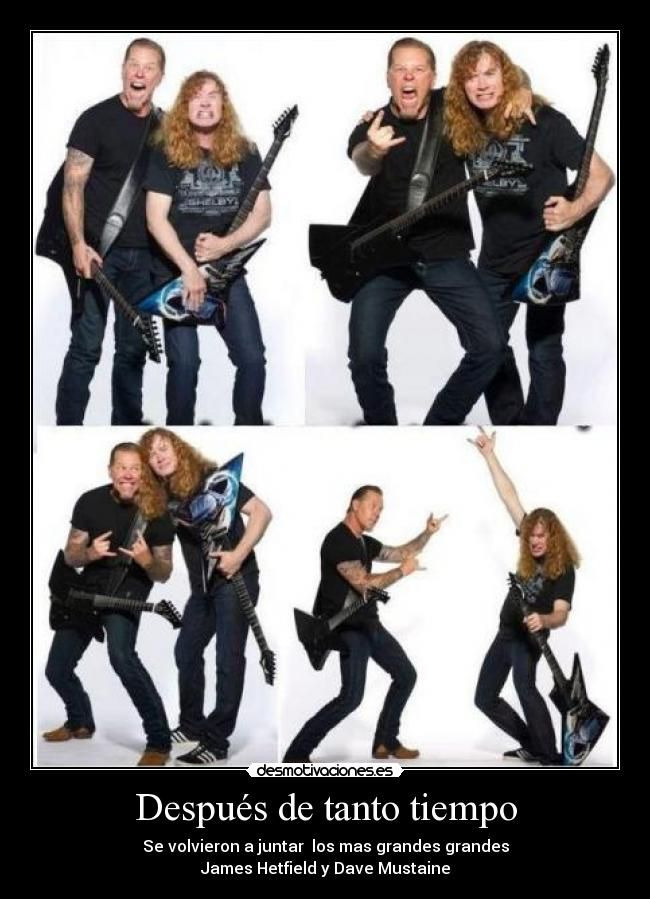 megadeth y metallica megadeth metallica dave mustaine heavy metal music. Black Bedroom Furniture Sets. Home Design Ideas