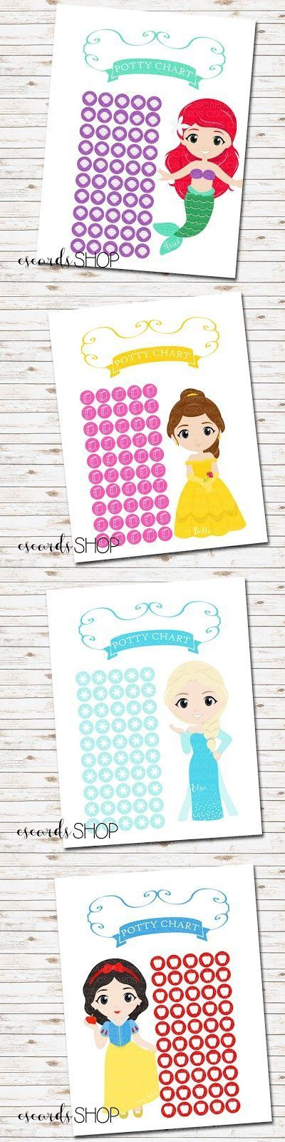 Disney Princess Potty Charts! Such a fun way for little girls to