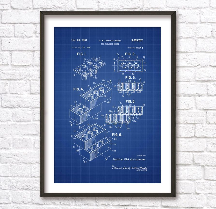 Lego blueprint patent wall art poster 2 by blueprintposters on etsy lego blueprint patent wall art poster 2 by blueprintposters on etsy httpswww malvernweather Images