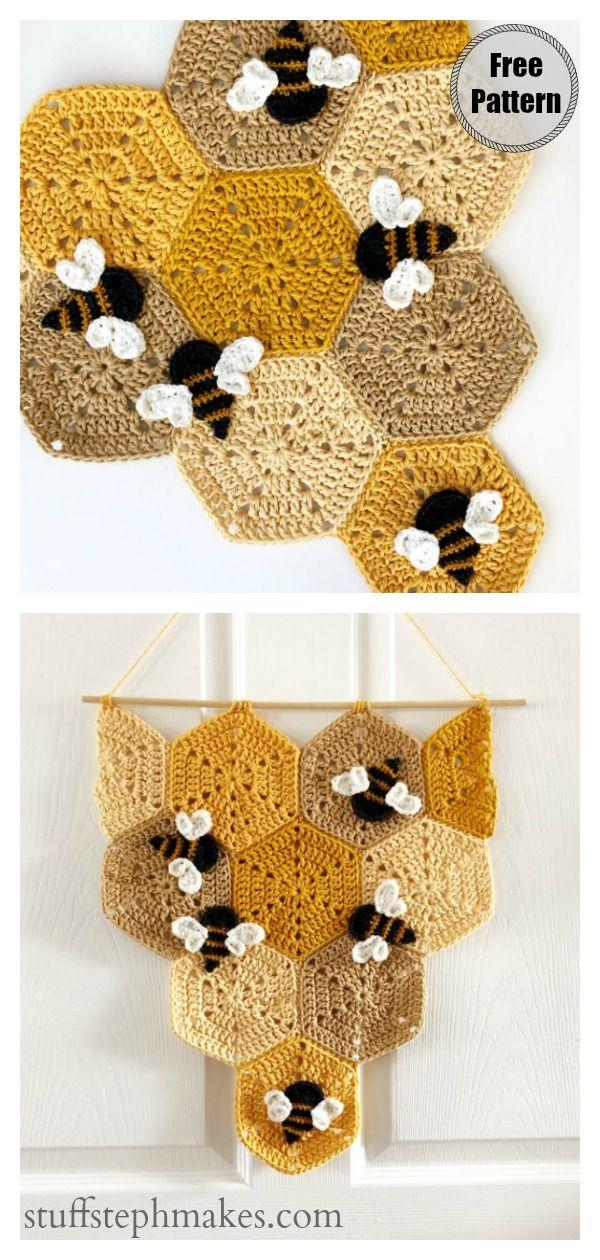 Honeycomb Baby Blanket Free Crochet Pattern #crochet