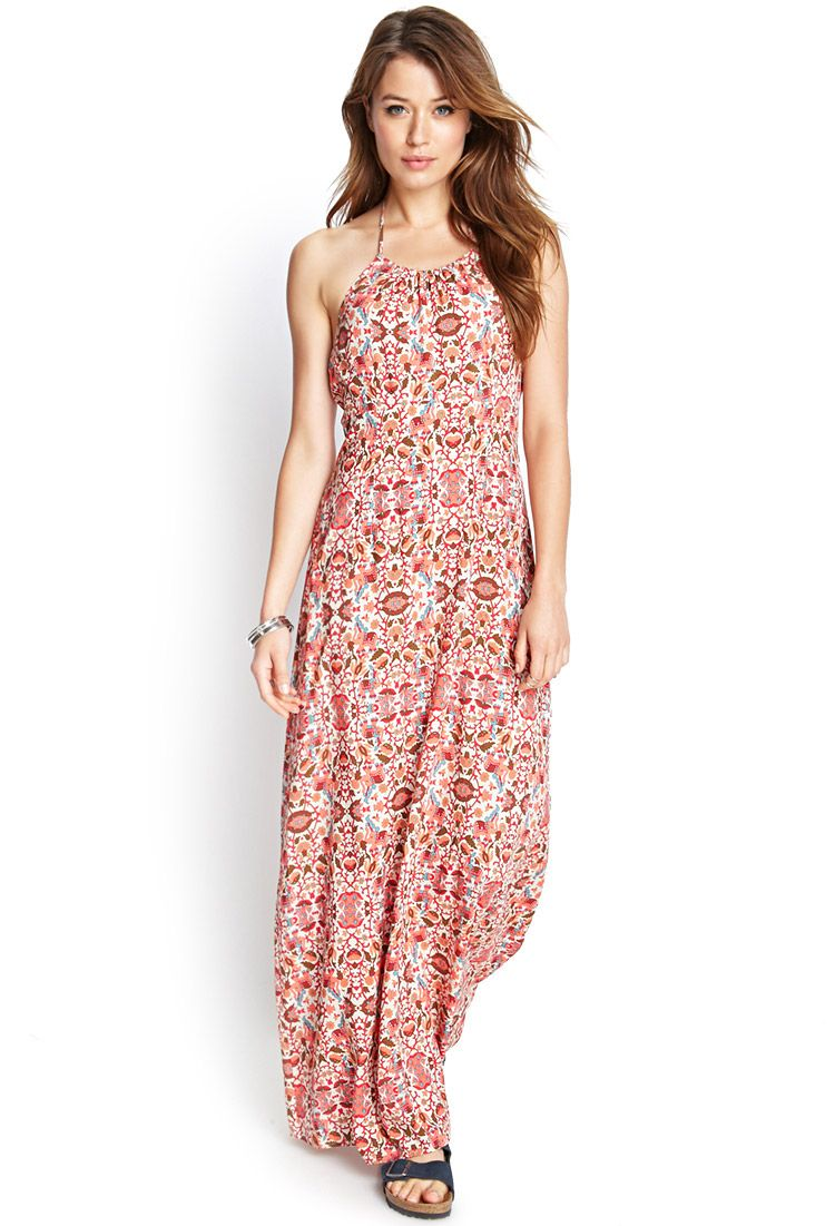 Floral Elephant Maxi Dress | FOREVER21 #F21Contemporary | Outfits ...