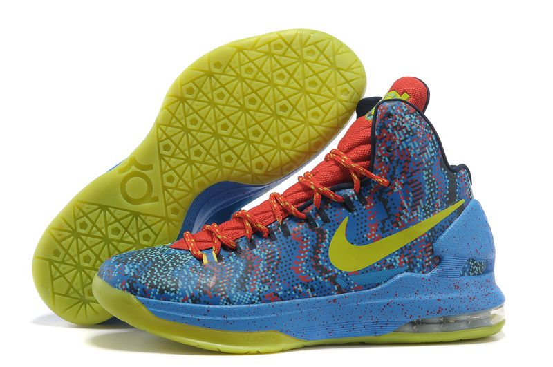 Christmas Day Edition Nike Zoom KD V 554988 102 Kevin Durant Shoes ...