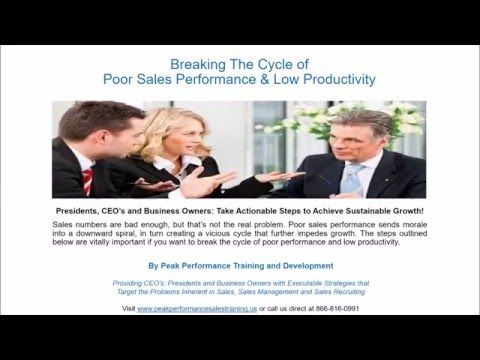 Sales Training Spotlight CEOu0027s Are you in Sales Performance - how to develop a sales training plan
