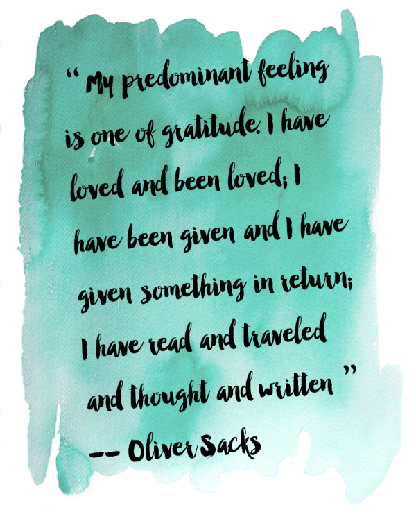 OLIVER SACKS GRATITUDE EPUB