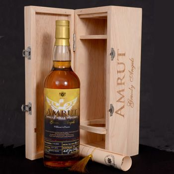 Indian distiller Amrut Distilleries has released an 8-year-old single malt whisky despite losing 12% of the liquid each year to the angel's share.