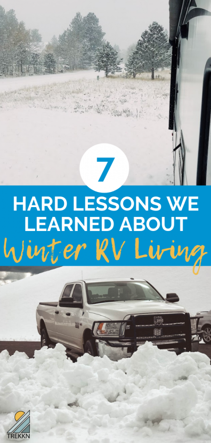 7 Hard Lessons We Learned About Winter RV Living #rvliving