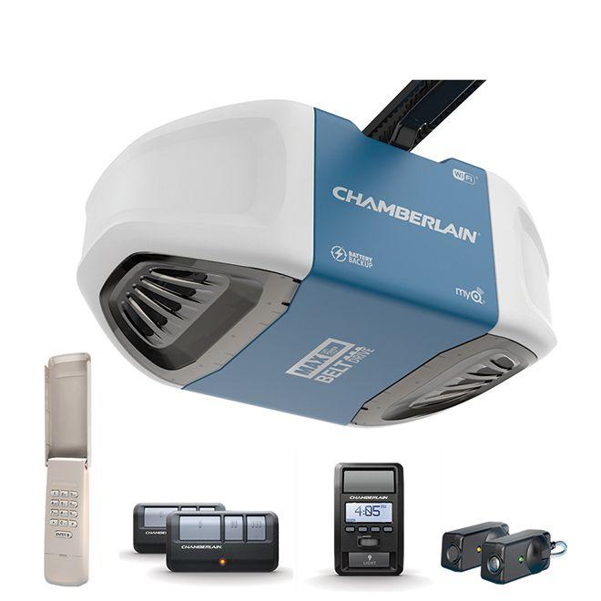 Chamberlain Belt Drive Garage Door Opener 1 1 4 Hp Rona