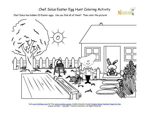 Holiday 5 Hidden Easter Egg Hunt Coloring Page Easter Egg Hunt