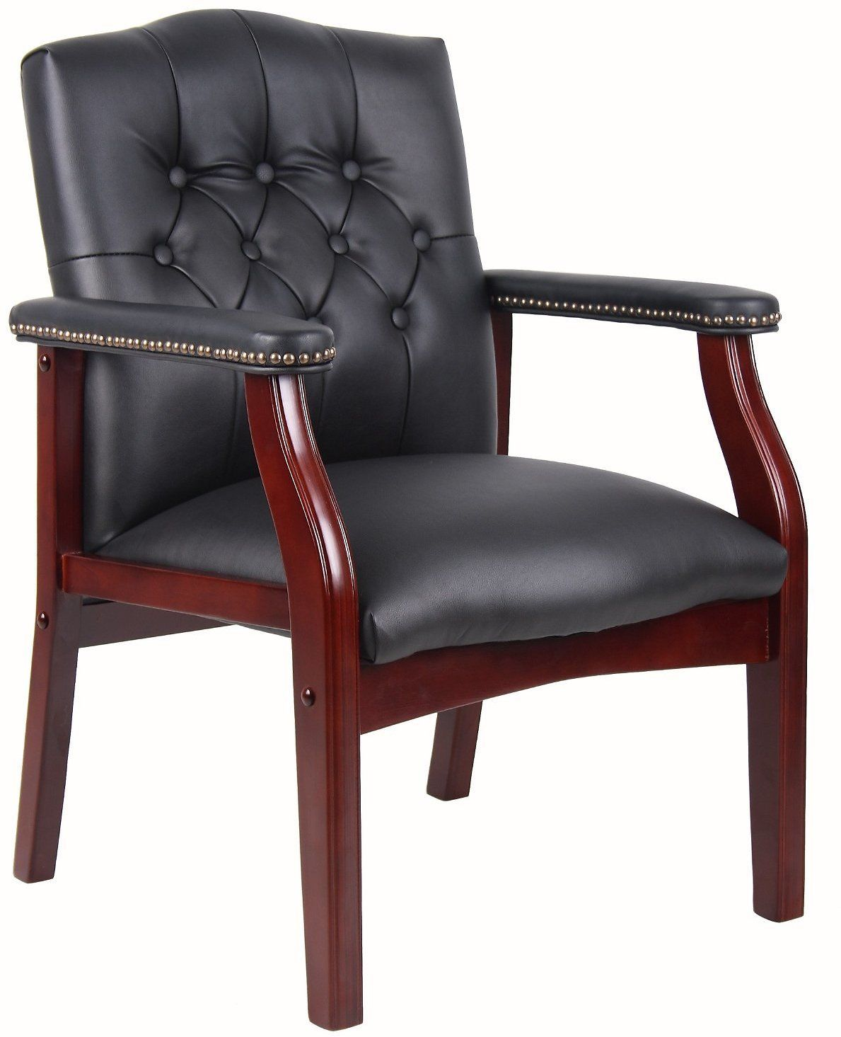 boss traditional black caressoft guest chair black deal on the web