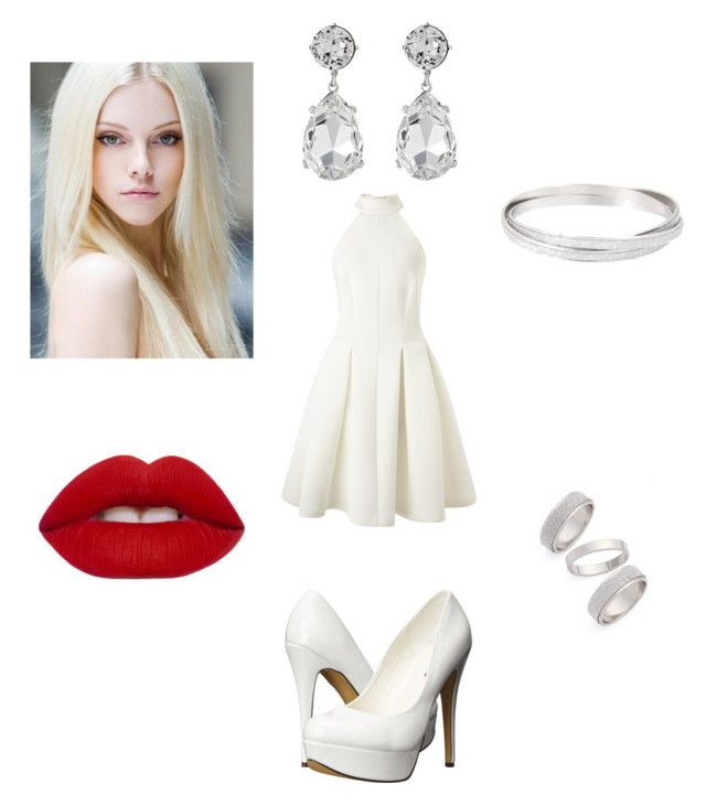 """""""Cream"""" by maddies-fashions ❤ liked on Polyvore featuring Miss Selfridge, Michael Antonio, Topshop, Kenneth Jay Lane and Lime Crime"""