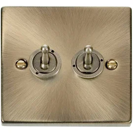 Brass 2 Gang Switch Google Shopping In 2020 Toggle Switch Toggle Light Switch Antique Brass