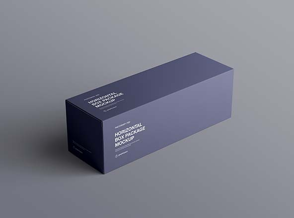 Download Horizontal Package Box Mockup | Box mockup, Mockup design ...