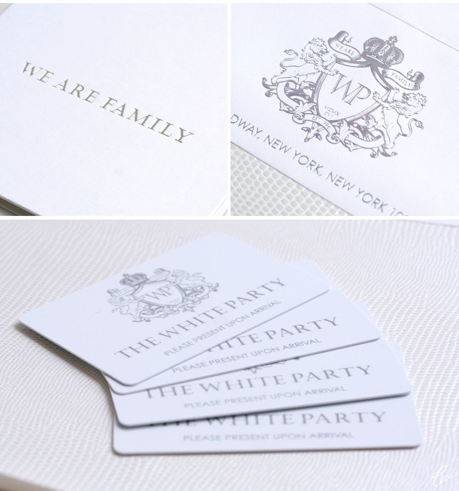 Ever wonder what an invite to P Diddys White Party would look