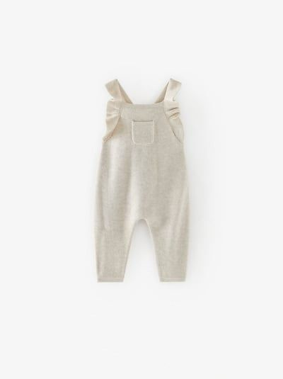 Photo of RUFFLED KNIT OVERALLS