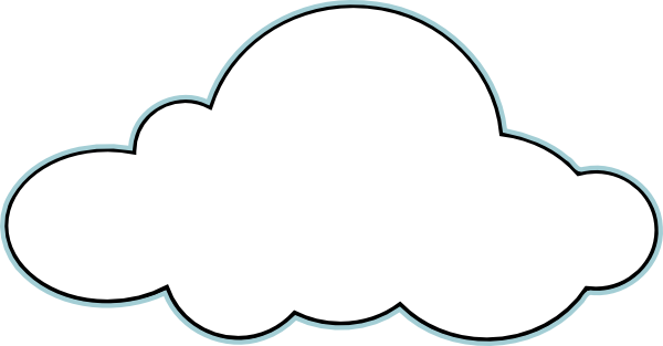 Black And White Clouds Clip Art Cloud Outline Clouds