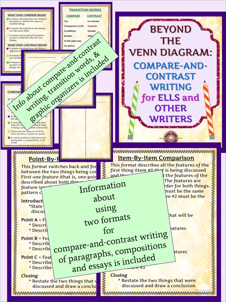 Compare And Contrast Writing In Two Formats  Teaching English To  Teach Students Two Ways To Do Compareandcontrast Writing With This  Product Which Includes General Info About The Purpose And Features Of