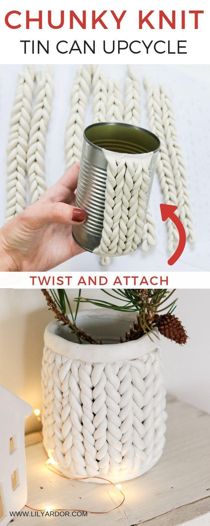 Photo of DIY Chunky knit using Clay – Chunky Knit Planter – Lily Ardor – Blog