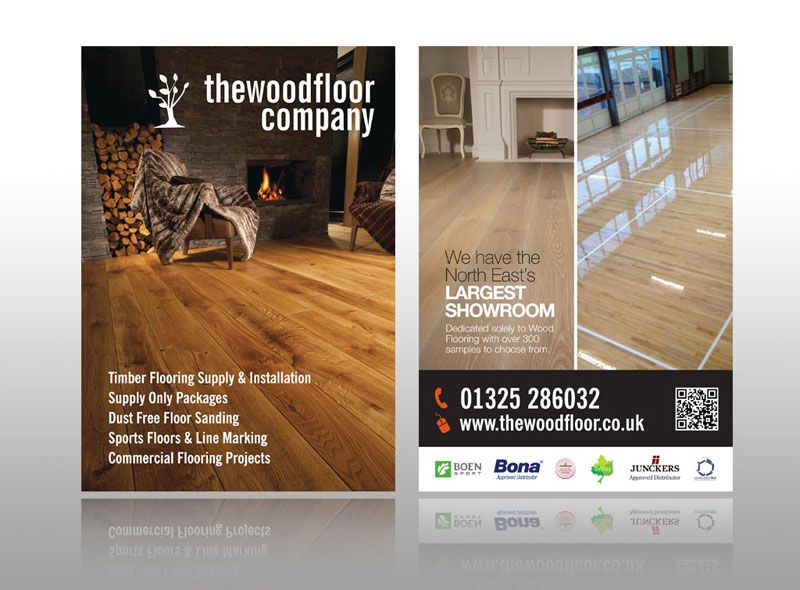 Great Classy Minimalist Leaflet Design For Wood Flooring Company  Http://www.stuart
