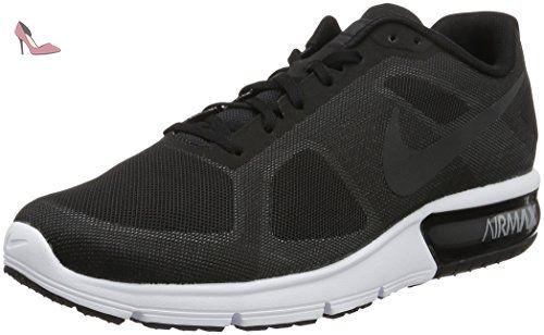 best service fe5c0 88d78 Nike Air Max Sequent, Chaussures de Running Entrainement Homme, Noir   Blanc  (Noir