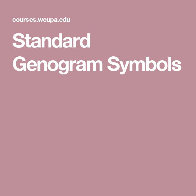Standard Genogram Symbols Nursing School Pinterest Symbols