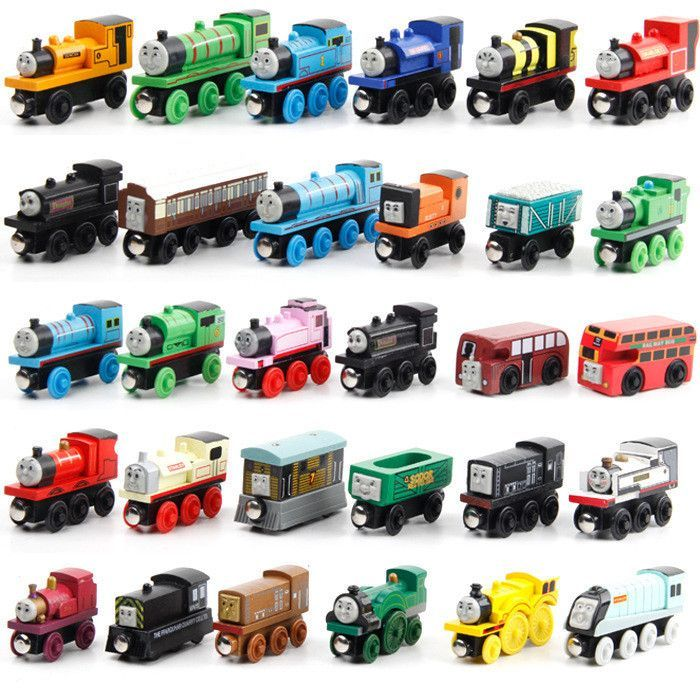 12pcslot Thomas And Friends Anime Wooden Railway Trainsthomas
