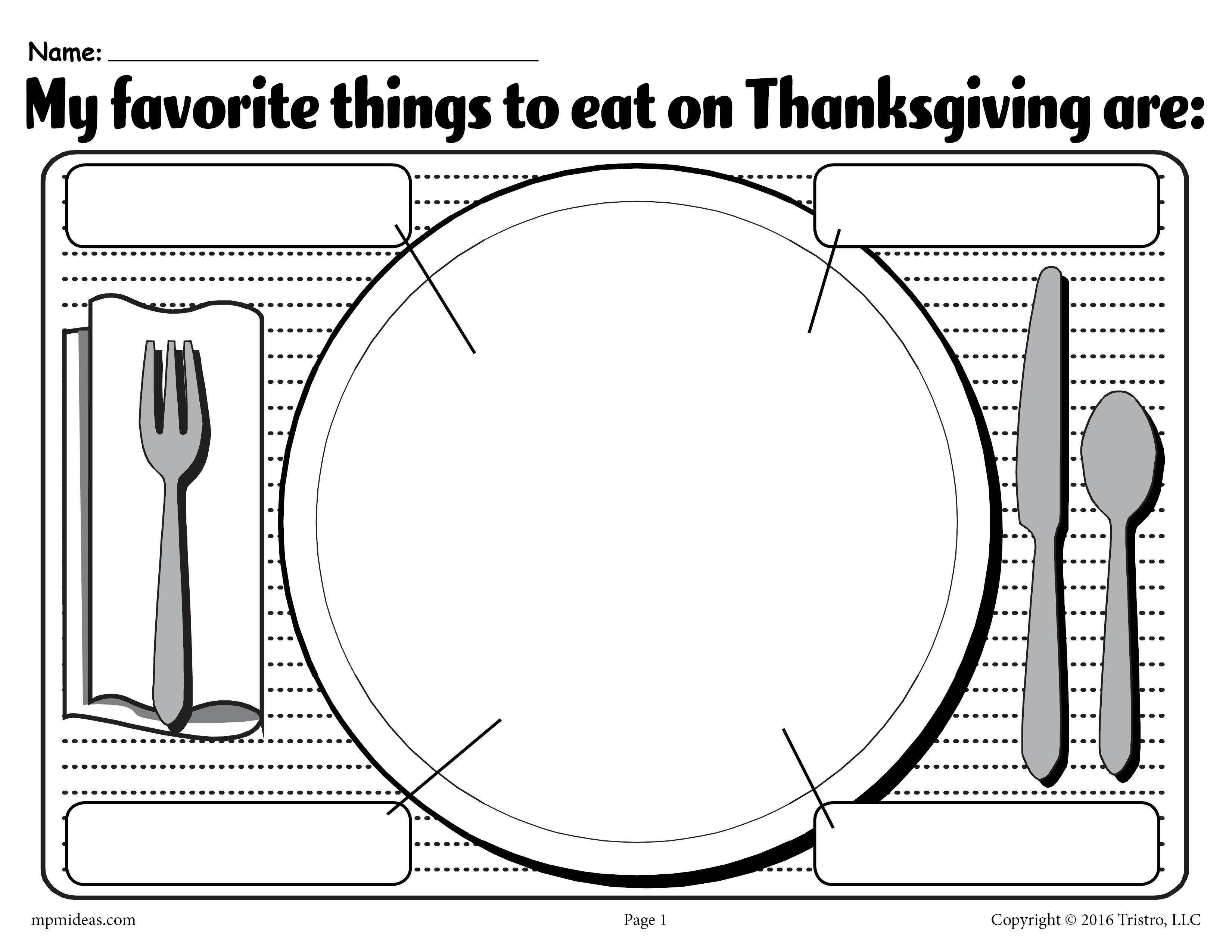 My Favorite Things To Eat On Thanksgiving Printable Worksheet Thanksgiving Worksheets Printable Worksheets Phonics Free [ 2550 x 3300 Pixel ]