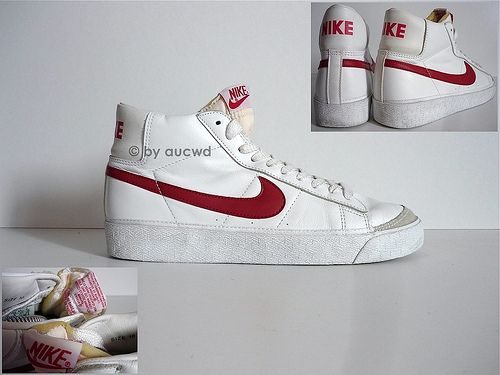 Matemáticas lineal pago  VINTAGE BASKETBALL SHOES | Vintage nike, Nike blazer, White sneaker