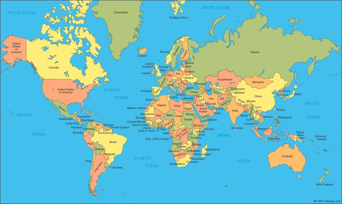 Political World Map High Resolution world political map with ...
