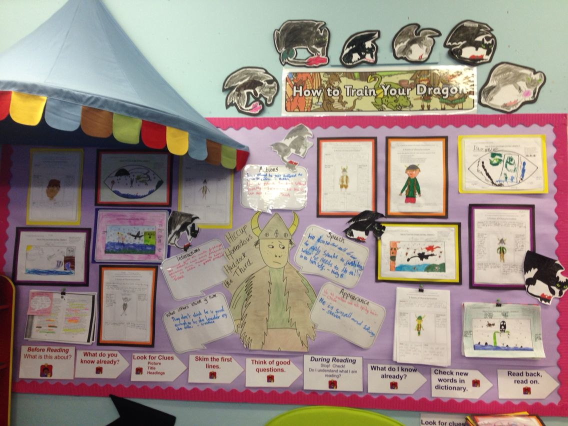How To Train Your Dragon Novel Study Display 5 Points Of