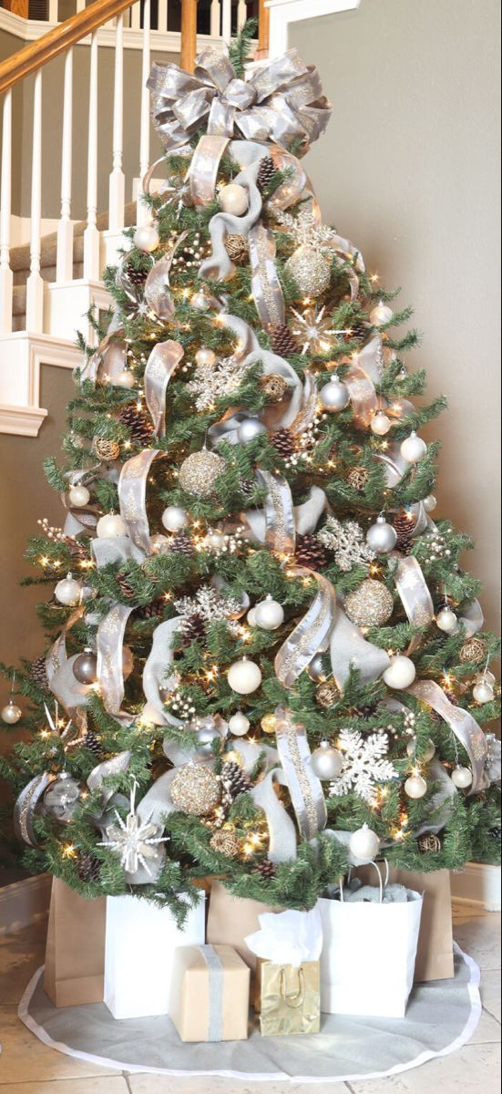 How to Decorate a Winter Wonderland Christmas Tree #kerstboomversieringen2019 How to Decorate a Winter Wonderland Christmas Tree #kerstboomversieringen2019