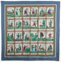 Hermes alphabet scarf from 1stdibs.com. Easter bunny, are you listening?