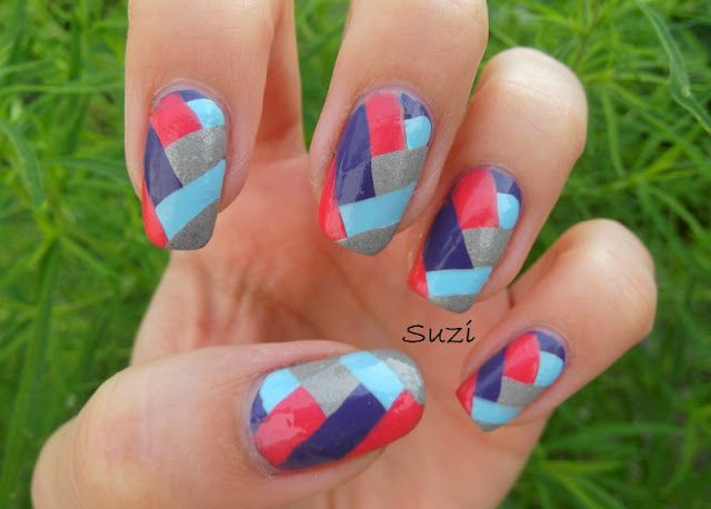 Braided Nail Design, like these colors!