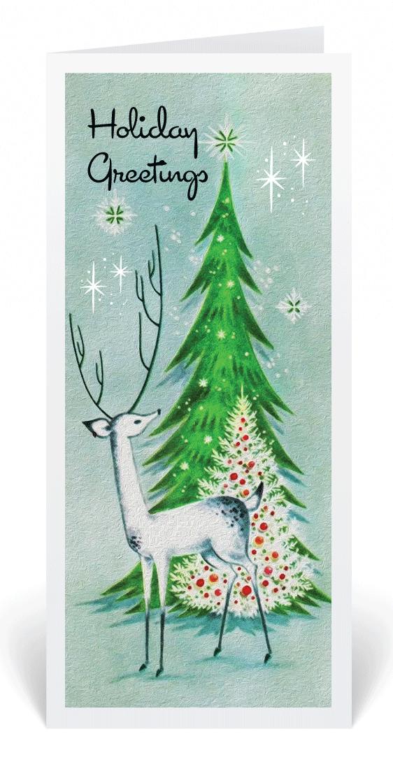Retro Modern Vintage 1950\'s Holiday Card | Vintage 1950\'s Christmas ...