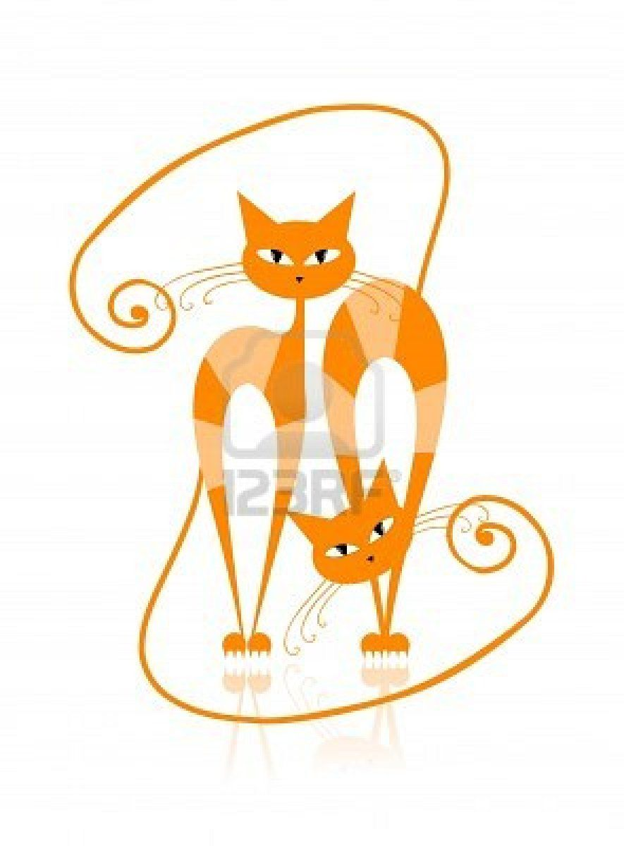 Stock Vector With Images Animal Line Drawings Stuffed Animal Patterns Cat Art
