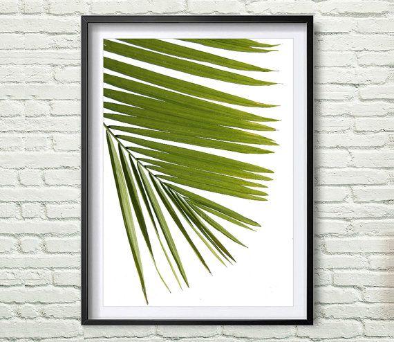 Tropical Leaf Print Green Palm Art Palm Art от Artvintagedecor
