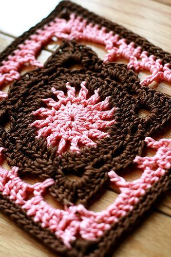 Crochet Knitting Handicraft: Crochet square units | Croché ...