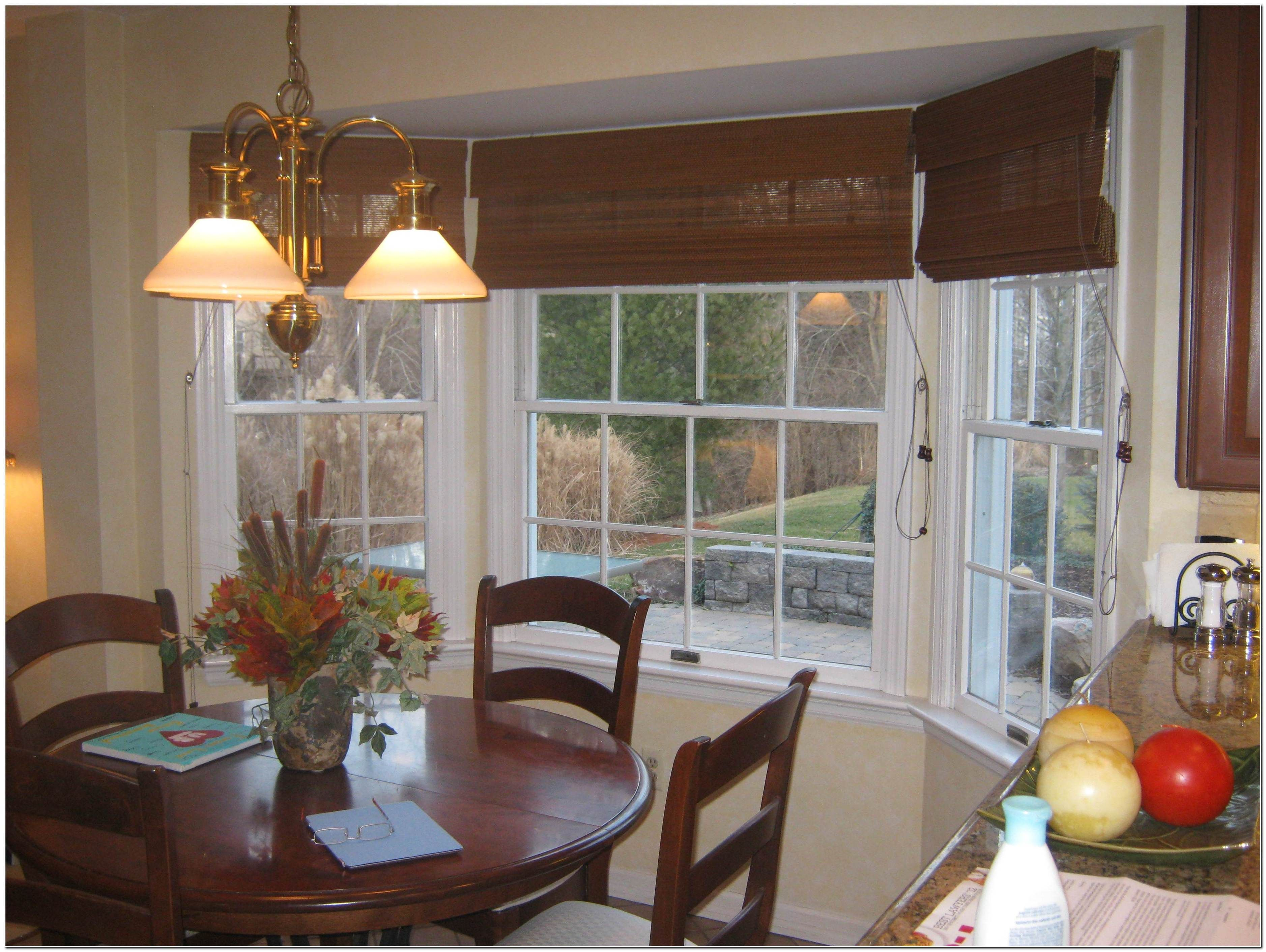 Bamboo Roman Shades Kitchen Decorating Ideas