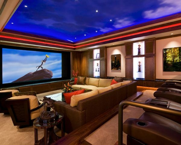 Exceptionnel Home Theatre Room Design Decoration