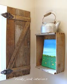 Funky Junk Interiors: How to build your own barnwood shutter